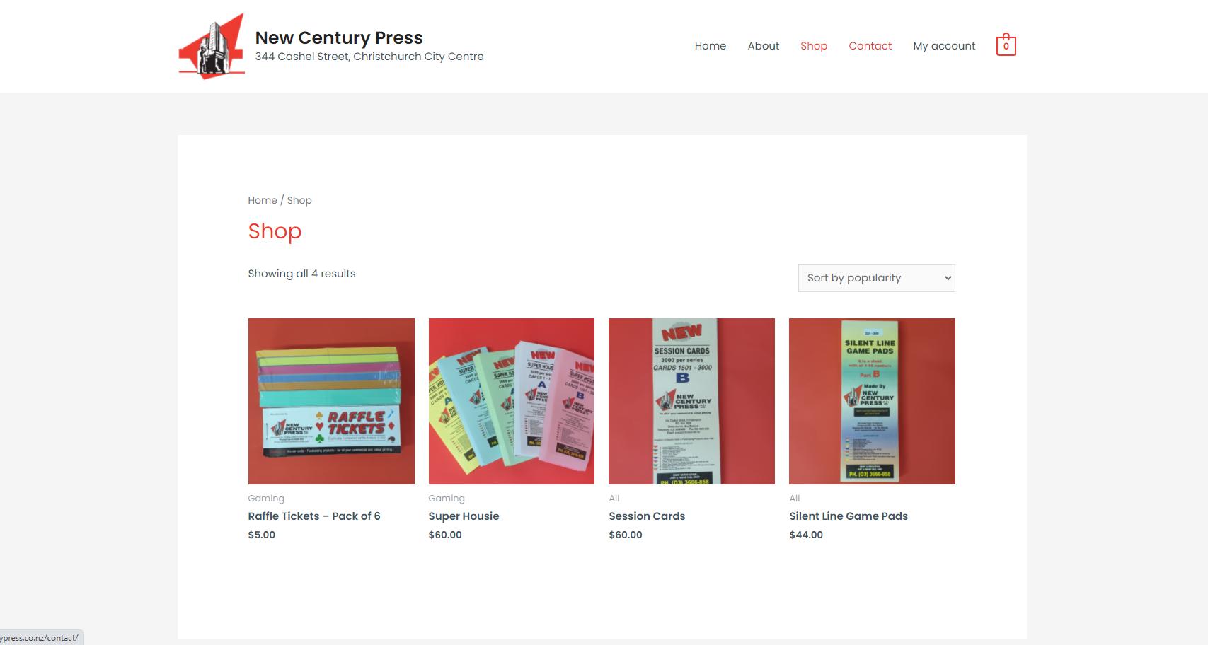 New Century Press Shop